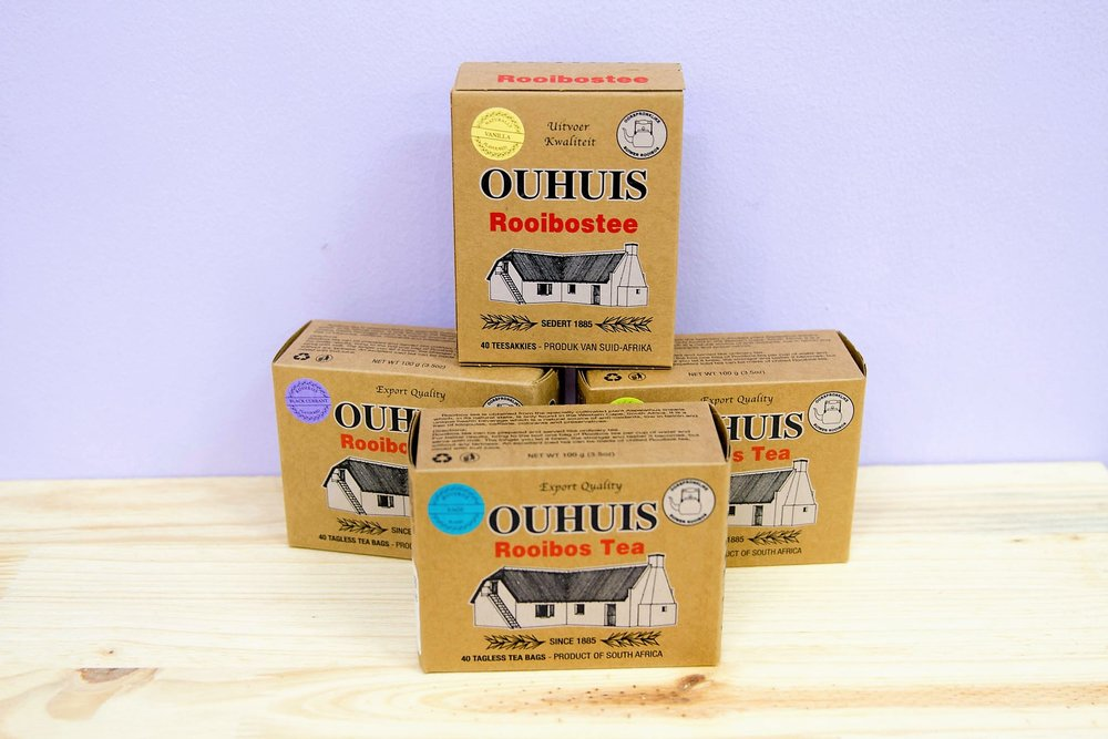 Ouhuis Tea Boxes - R 40 to R 60 - More than 10 different flavors - please inquire.