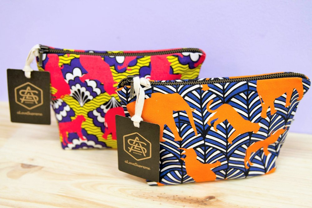 Patterned Makeup Purse - R 195 each - 2 designs available as pictured.