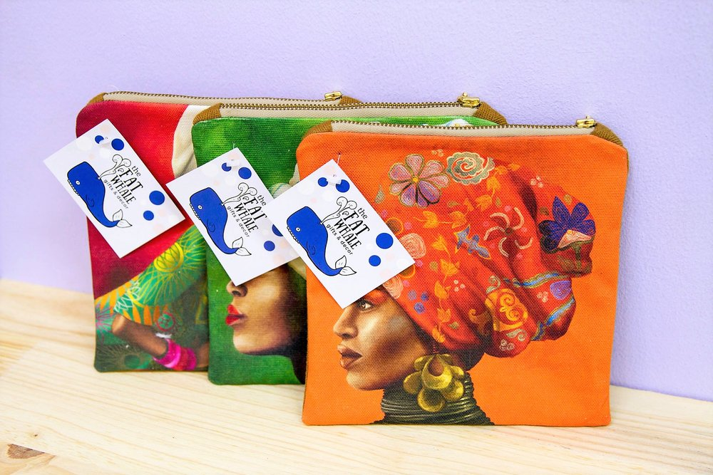 African Women Purses - R 290 each - High quality printed purses - 3 designs available.