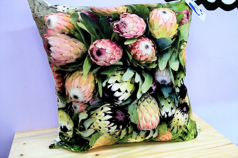 Protea Cushion Cover - R 365 - Square - Inner Sold Separately.