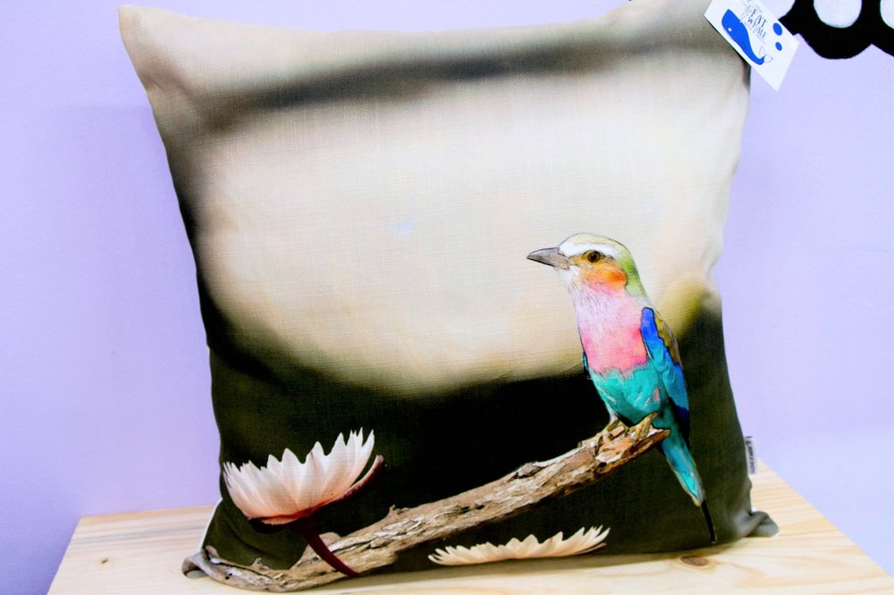 Lilac Roller Cushion Cover - R 365 - Square - Inner Sold Separately.