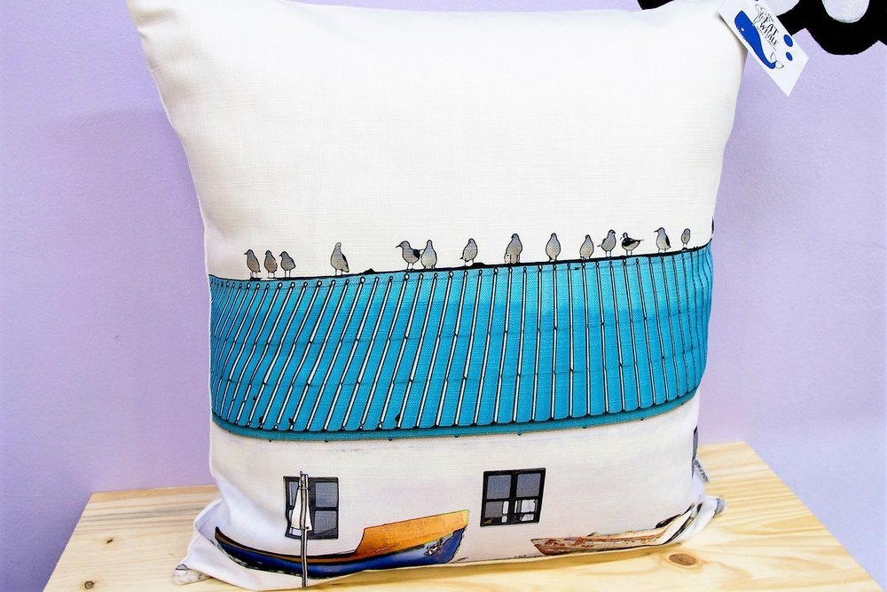 Blue Roof Cushion Cover - R 365 - Square - Inner Sold Separately.