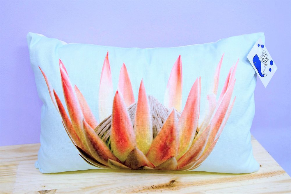 Protea Cushion Cover - R 330 - Rectangle - Inner Sold Separately.