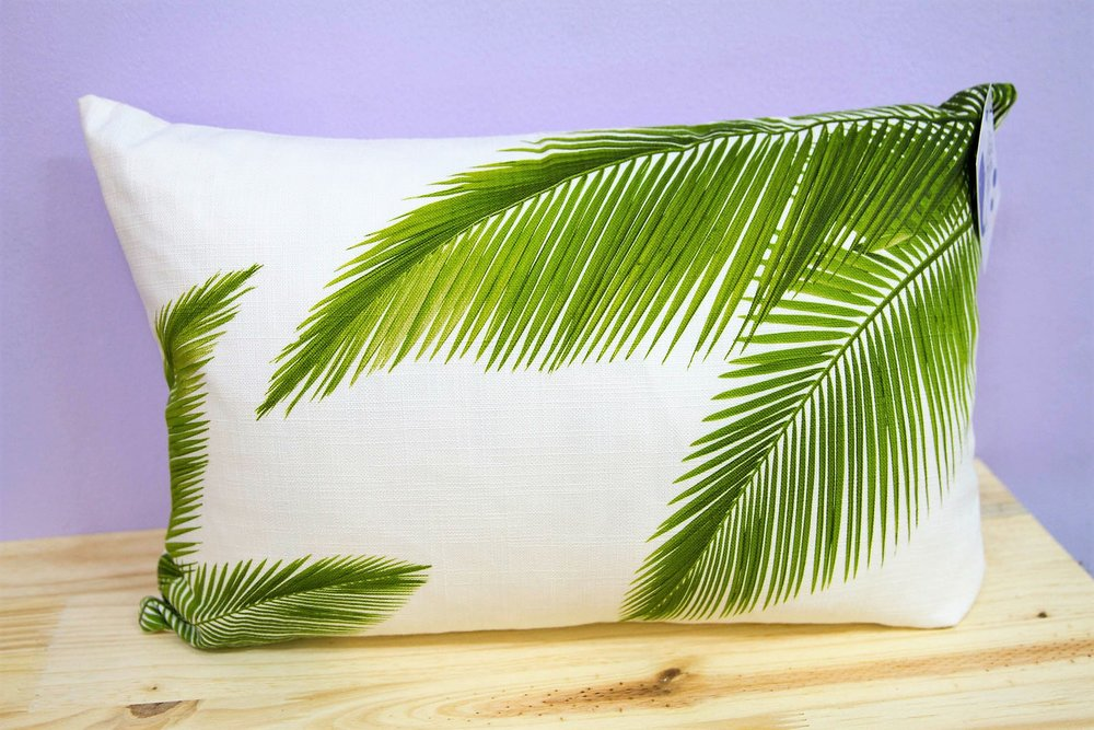 Green Leaves Cushion Cover - R 330 - Rectangle - Inner Sold Separately.