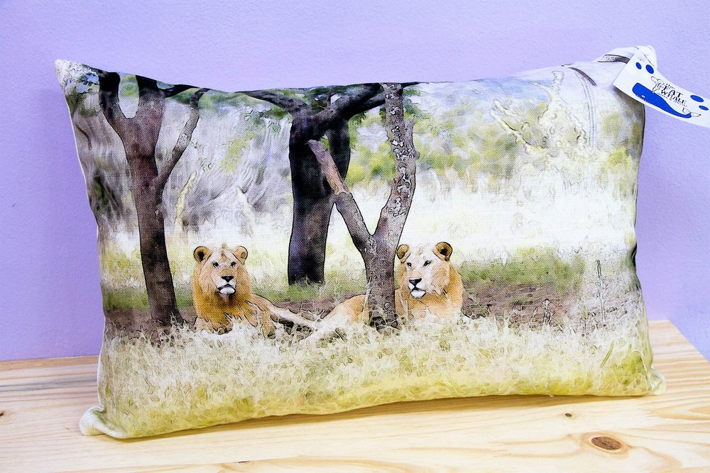 Lions Under Trees Cushion Cover - R 330 - Rectangle - Inner Sold Separately.