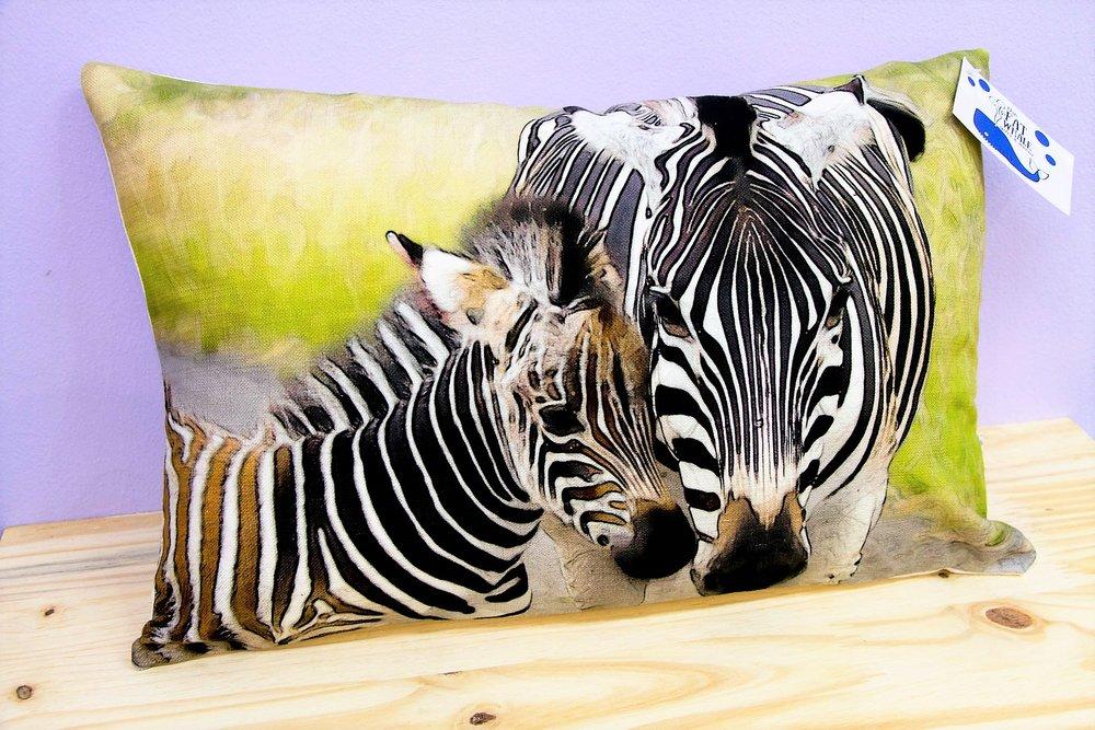 Zebra Cushion Cover - R 330 - Rectangle - Inner Sold Separately.