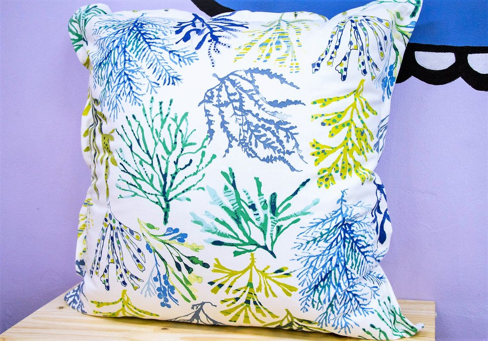 Coral Reef Cushion - R 399 - Sold with the cover & inner. Currently Sold Out.