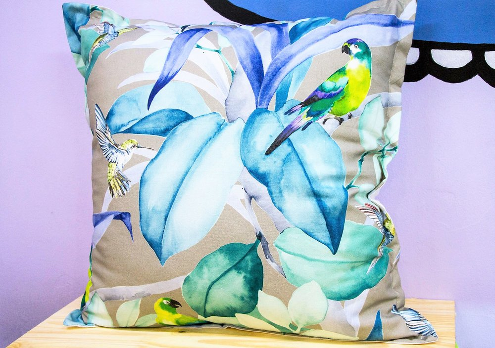 Hummingbird Cushion - R 399 - Sold with the cover & inner.
