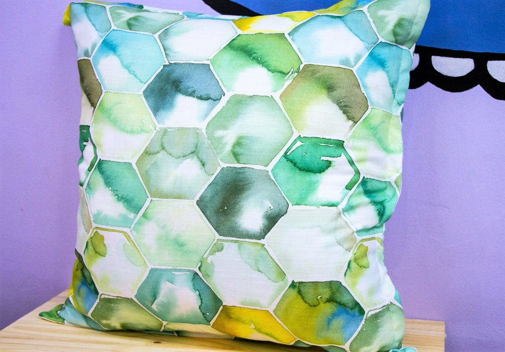 Ocean Hex Cushion - R 399 - Sold with the cover & inner.