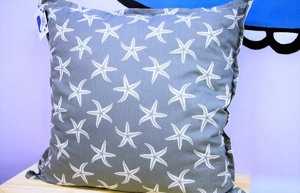 Grey Starfish Cushion - R 399 - Sold with the cover & inner.