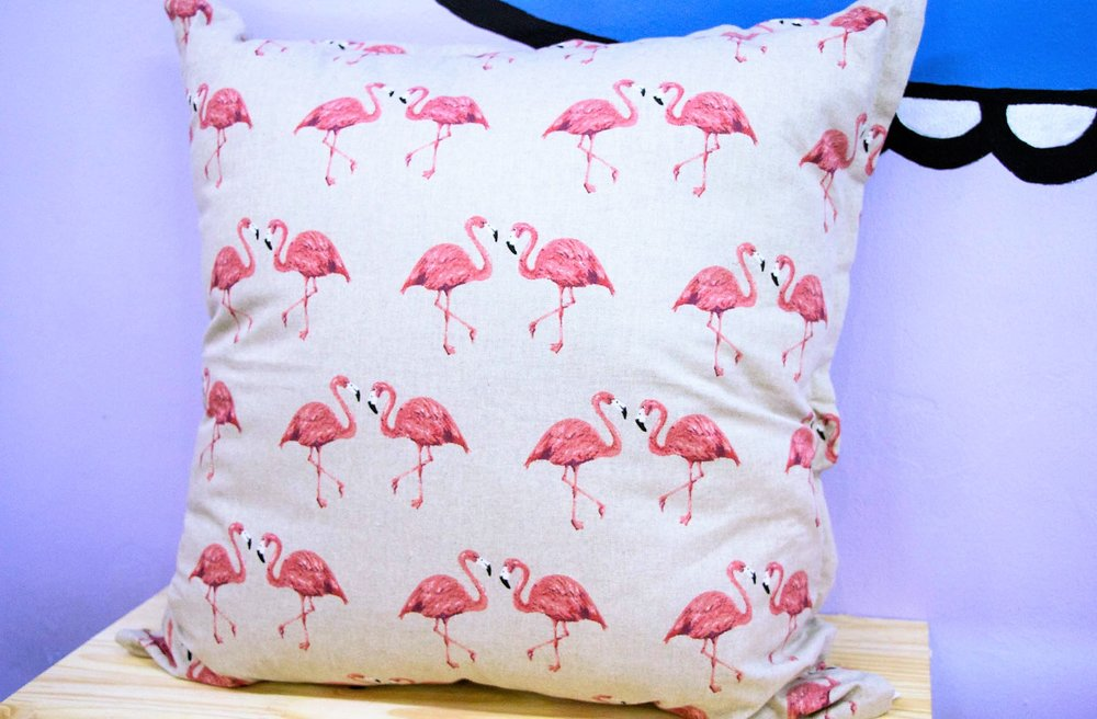 Flamingo Pattern Cushion - R 399 - Sold with the cover & inner.