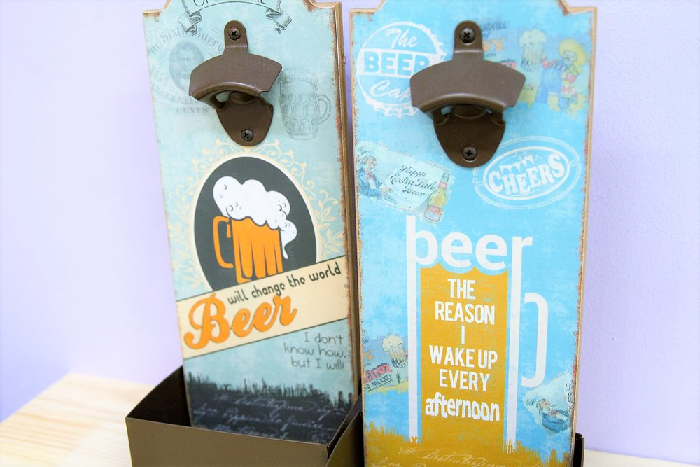 Wall Beer Openers - R 150 each - 2 designs available as pictured.