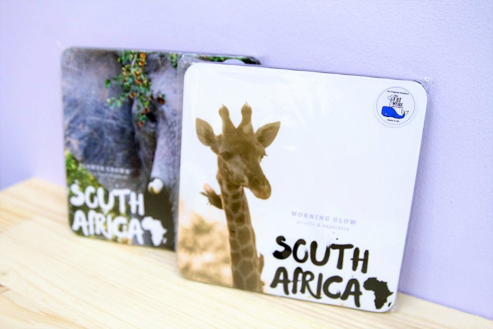South Africa Wooden Plaques - R 195 each - Can be used on your wall or to stand on a desk.