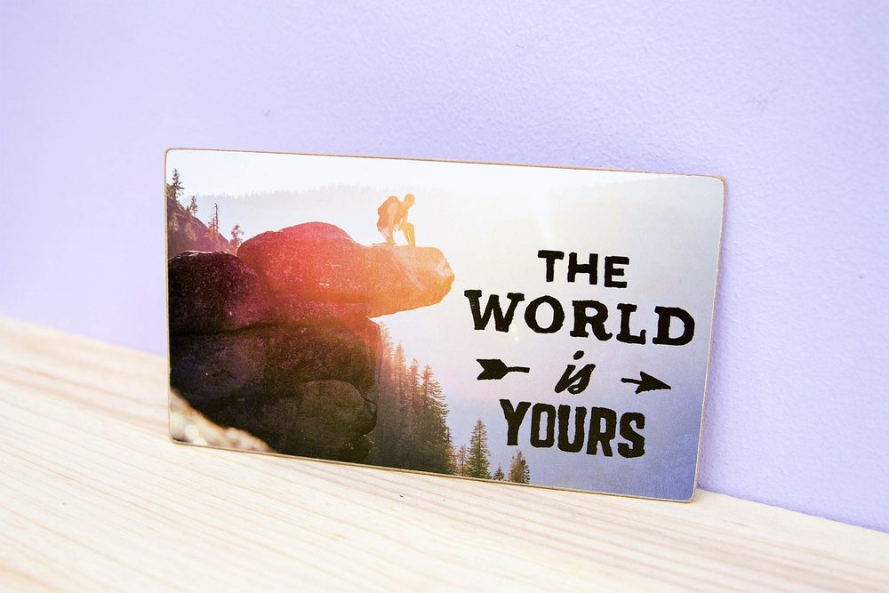 Rectangle Wall Plaques - R 50 each - Comes with double-sided tape on the back.