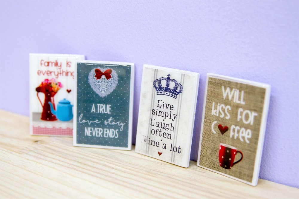 Assorted Quote Magnets - R 45 each - Various designs available - please inquire.