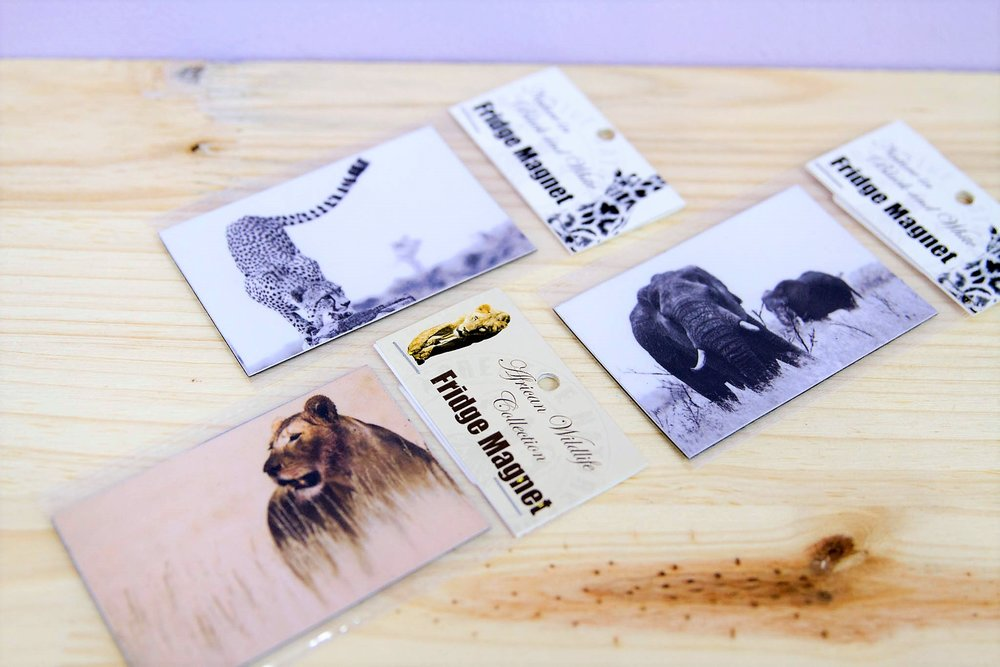 African Animal Magnets - R 30 each - Various designs available - please inquire.