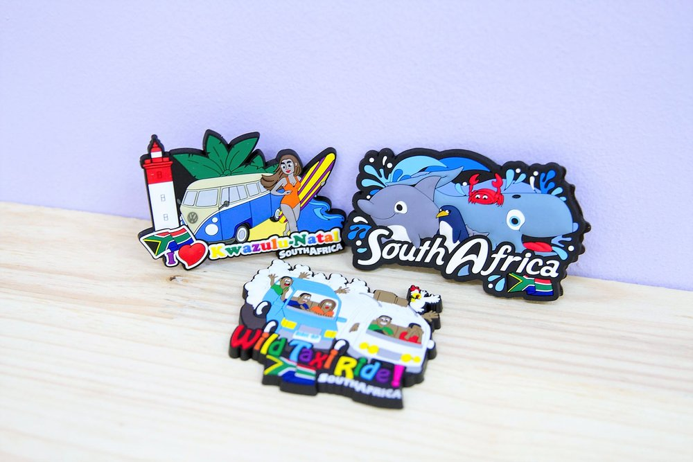 Rubber Magnets - R 65 each - I Heart KZN, Dolphin South Africa & Wild Taxi Ride.
