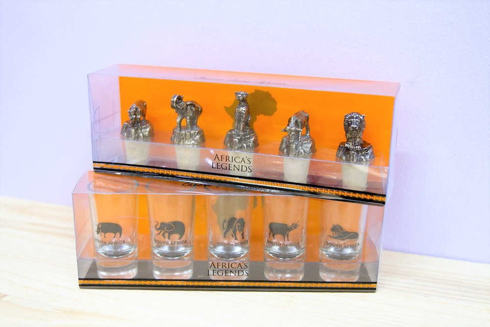 Bottle Openers & Shot Glasses - R 130 to R 220 - Sold in a boxed set.