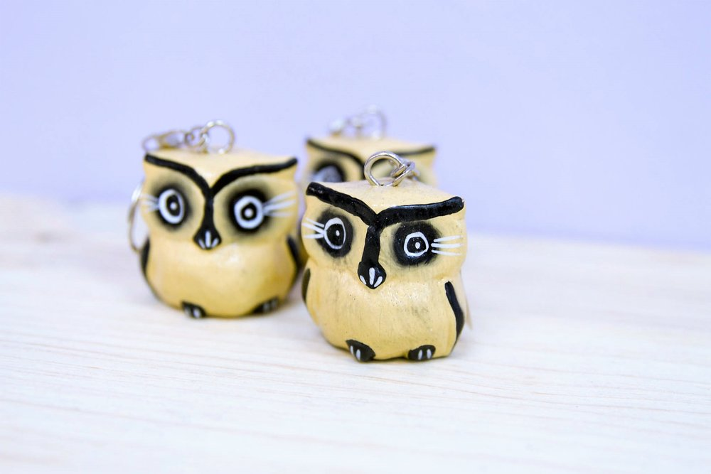 Owl Key Ring - R 40 each - Design as pictured.