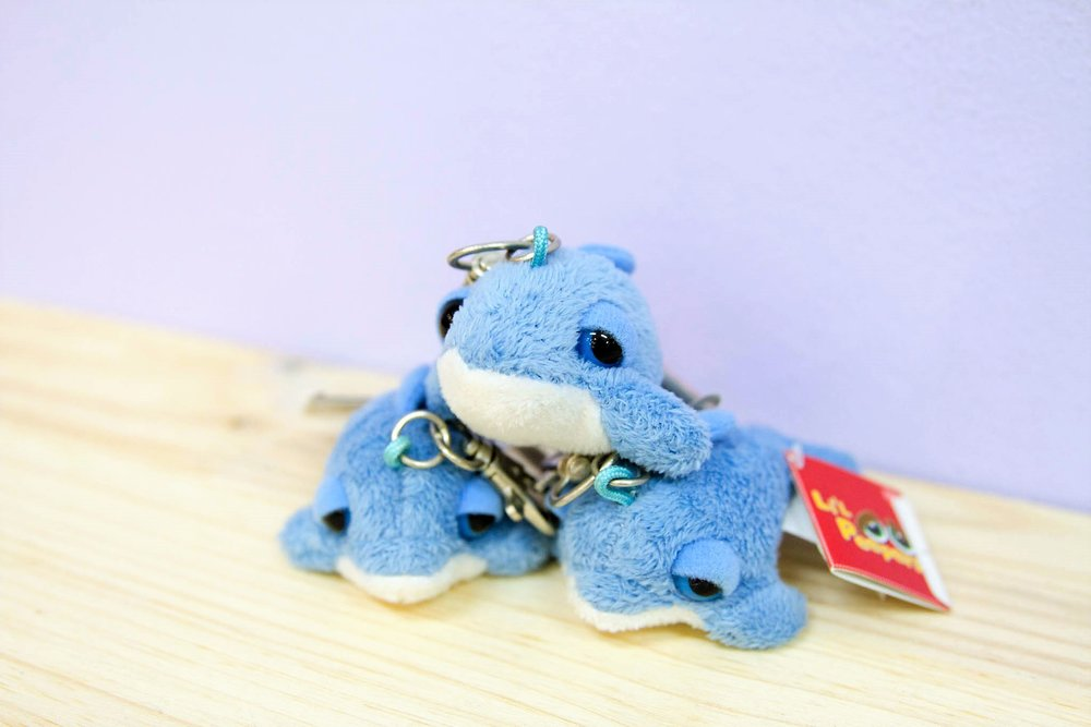 Plush Dolphin Key Ring - R 45 each - Design as pictured.
