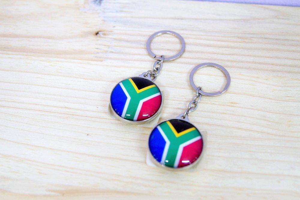 SA Flag Key Rings - R 70 each - Design as pictured.