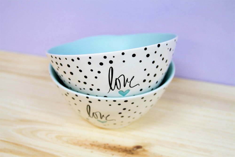 Small Spotted Bowl - R 200 each - Design as pictured.