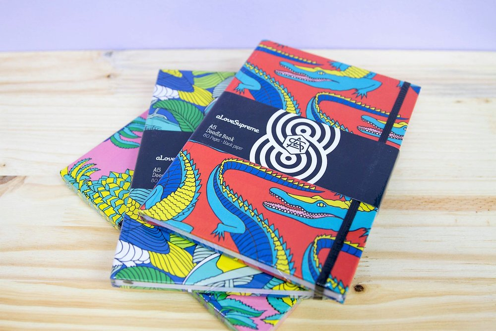 A5 Hardcover Doodle Books - R 150 each - A hardcover book - perfect for doodling and keeping notes.