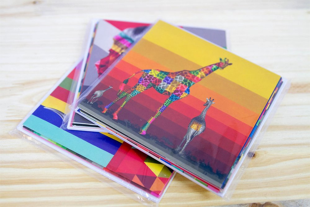 Wildlife in Color Card Sets - R 100 each - A set of 6 different cards.
