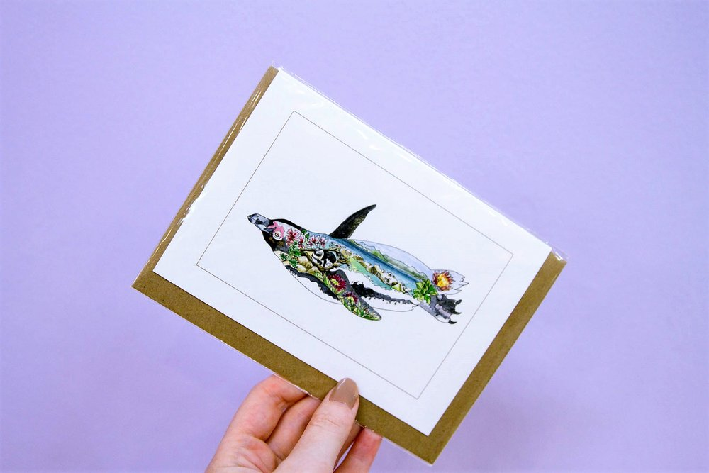 Ocean Life Individual Cards - R 25 each - 6 different ocean themed designs available.