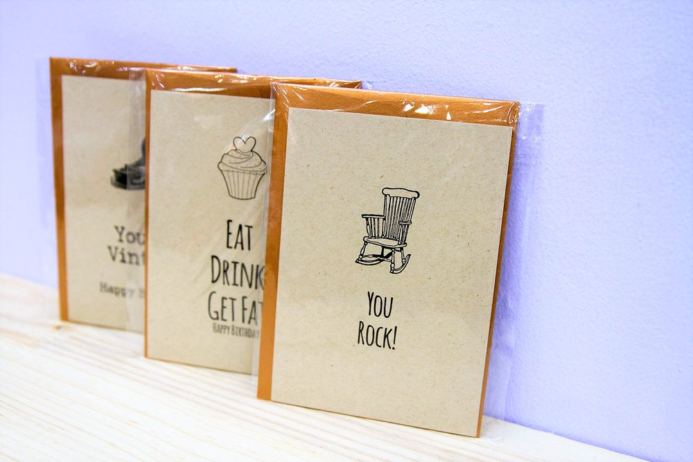Assorted Gift Cards - R 40 each - Various quotes & designs - please inquire.