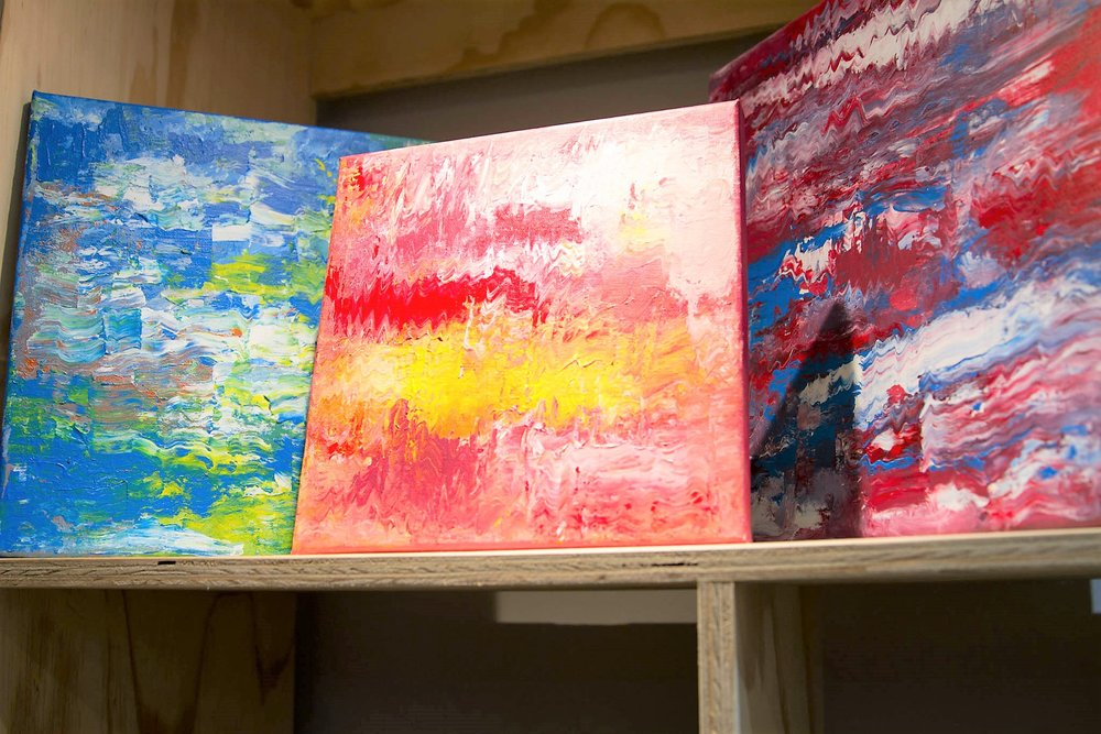 Abstract Acrylic Paintings - Please inquire for individual prices. From R 250 upwards. - Once-off originals done by a local artist.