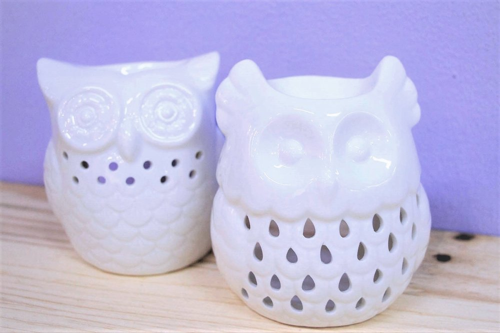 Owl Oil Burners - R 115 each - 2 designs as pictured.