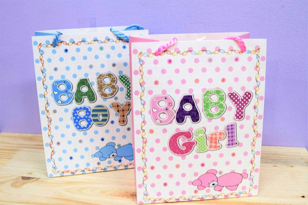 Baby Gift Bags - R 25 each - Available in pink or blue.