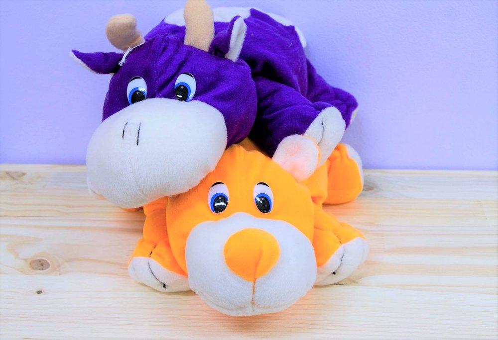 Purple Cow & Orange Bear - R 110 each - Purple cow or orange bear.