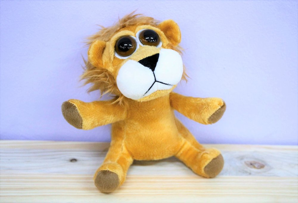 Lion Plush Toy - R 65 - Part of our big-eyed cuddly collection.