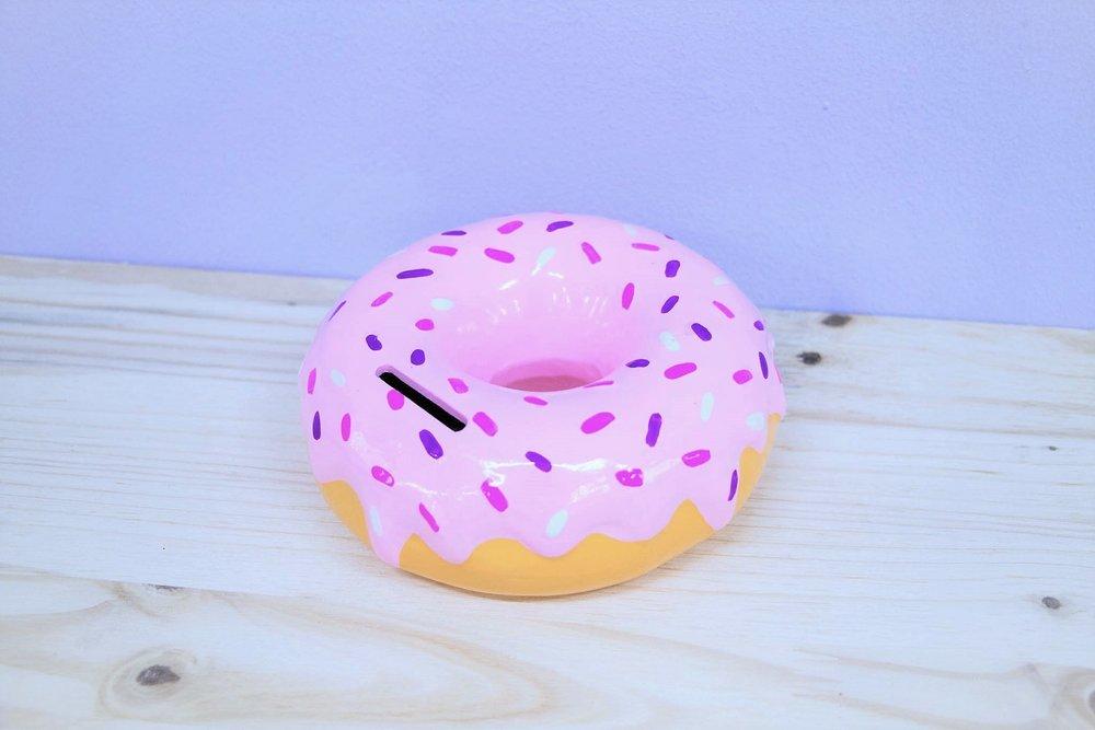 Donut Piggy Bank - R 145 - Ceramic piggy bank design.
