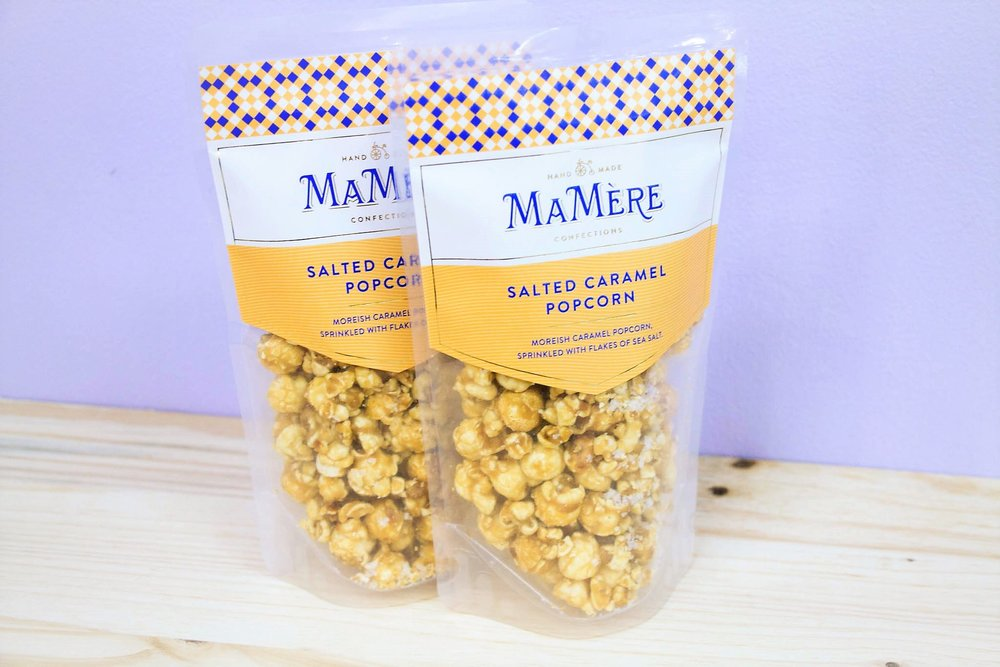 Salted Caramel Popcorn - R 30 per pack - A moreish flavor that keeps you coming back.