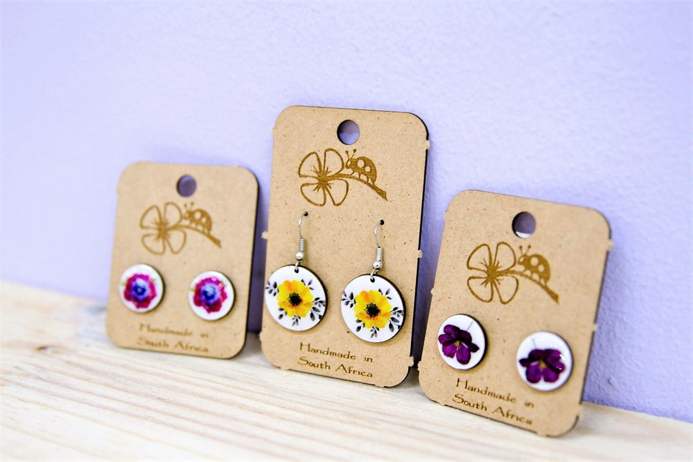 Floral Earrings - R 65 to R 70 - Various Designs - Please Inquire.