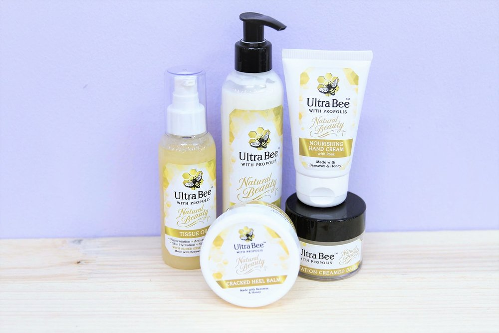 Ultra Bee Beauty Range - R 70 to R 200 - Hand cream, tissue oil, hand wash and more.