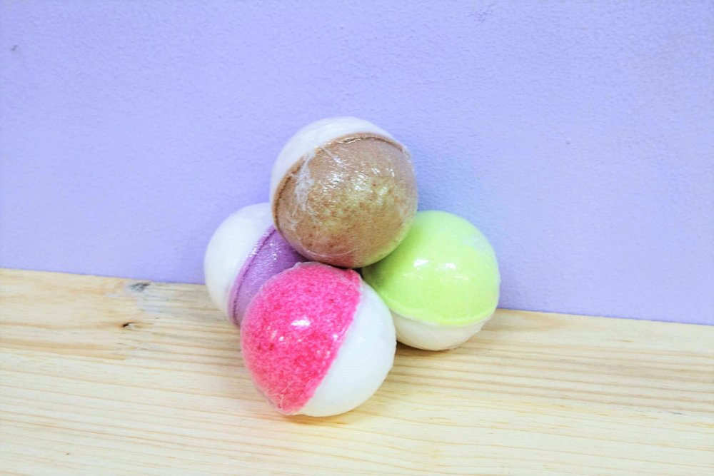 Various Bath Bombs - R 40 to R 50 - Continually changing scents - please inquire.