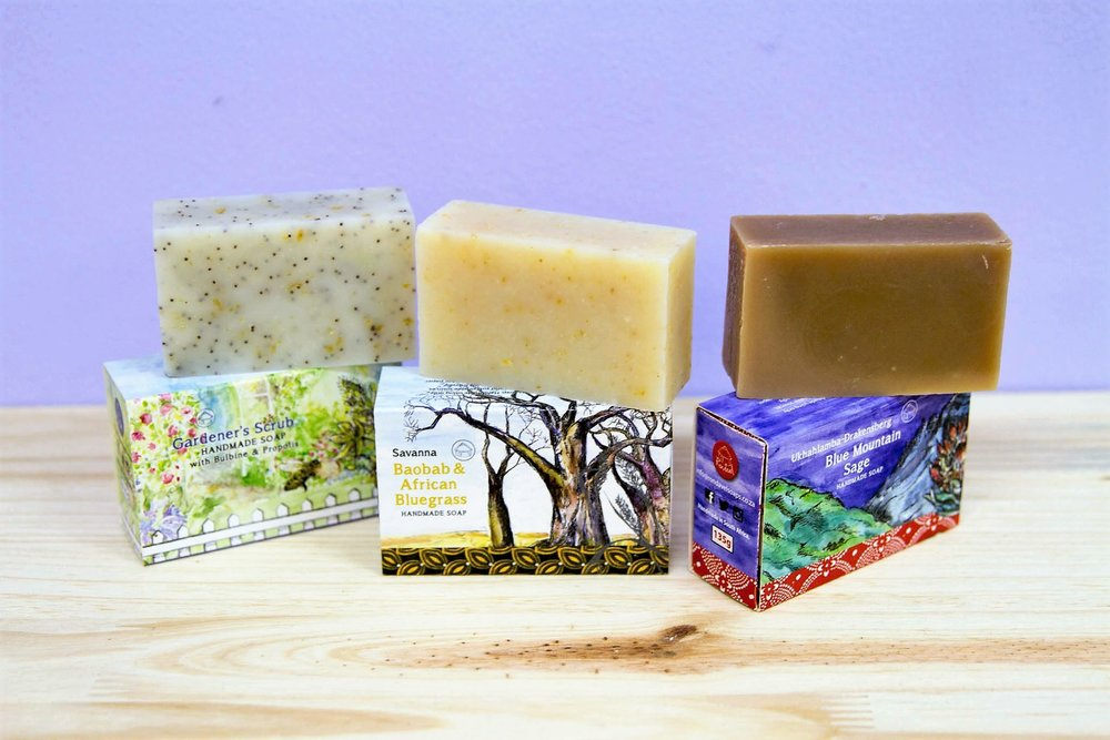 Rondavel Soaps - R 75 each - More than 6 different scents - please inquire.