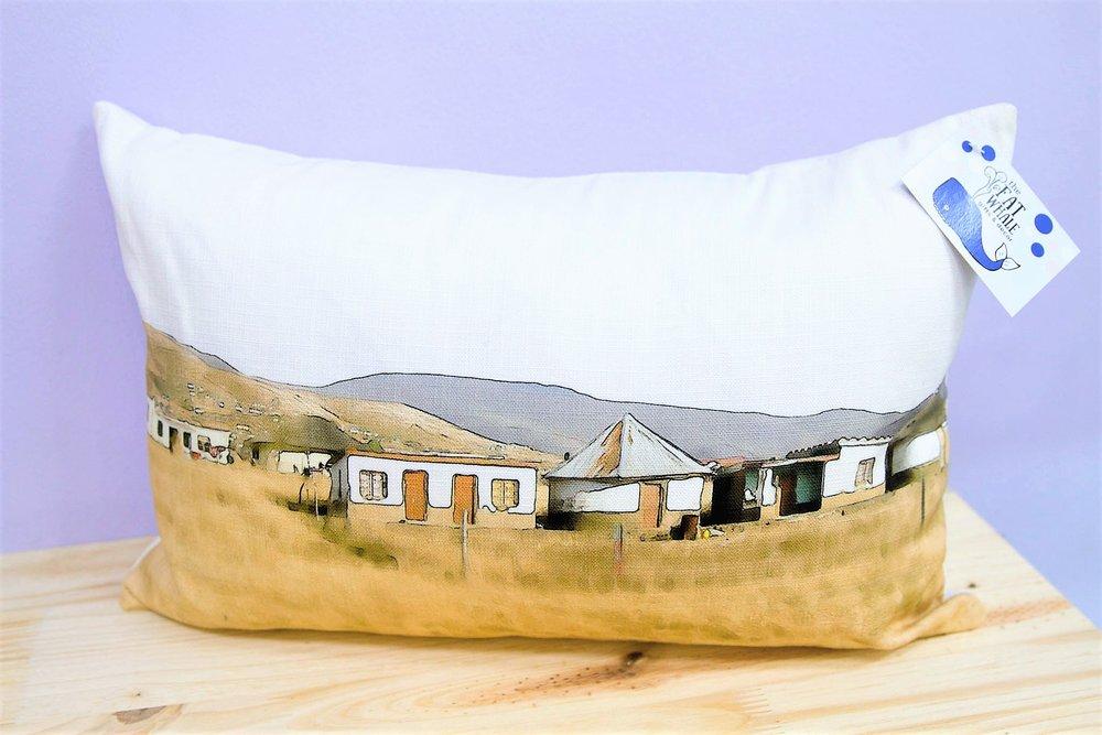 Rural Scene Cushion Cover - R 330 - Rectangle - Inner Sold Separately.
