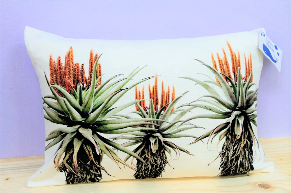 Aloe Trio Cushion Cover - R 330 - Rectangle - Inner Sold Separately. Currently Sold Out.