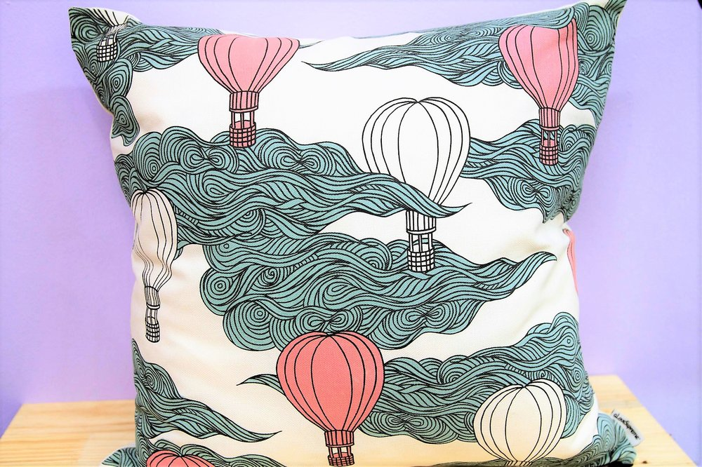 Hot Air Balloon Cushion - R 350 - Sold with the cover & inner.
