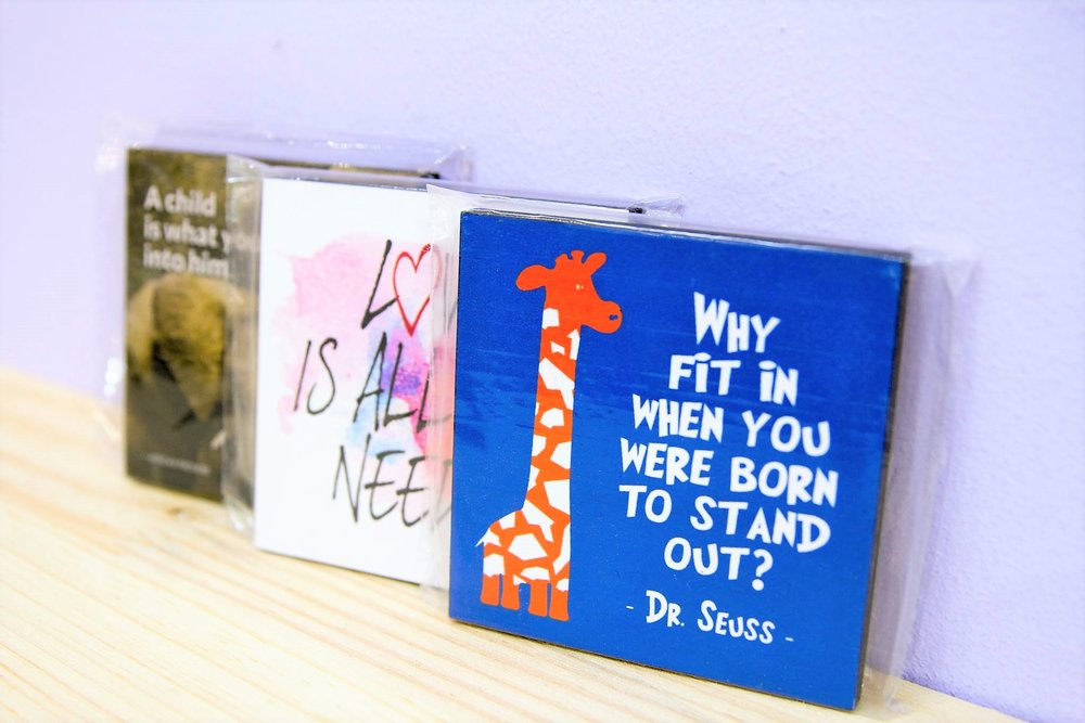 Assorted Desk Stands - R 60 each - Various quotes / designs available. Please inquire.