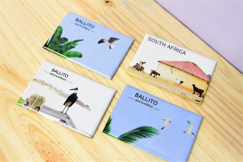 Ballito & SA Magnets - R 55 each - Various designs available - please inquire.