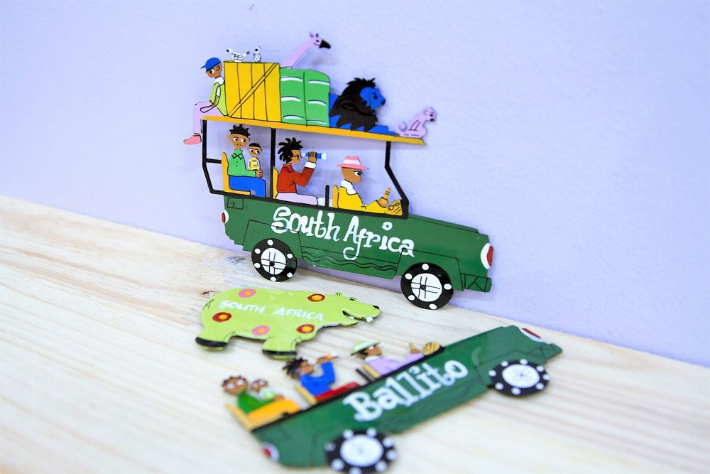 Tin Magnets - R 80 to R 190 - Various designs available - please inquire.