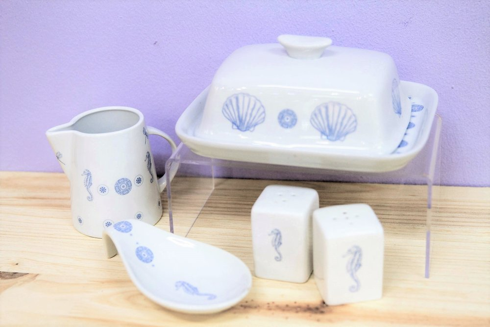 Sea Themed Ceramic Collection - R 105 to R 190 - Blue & White themed collection. Please inquire for individual prices.
