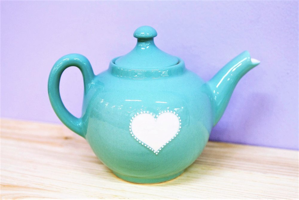 Turquoise Teapot - R 470 - Design as pictured.