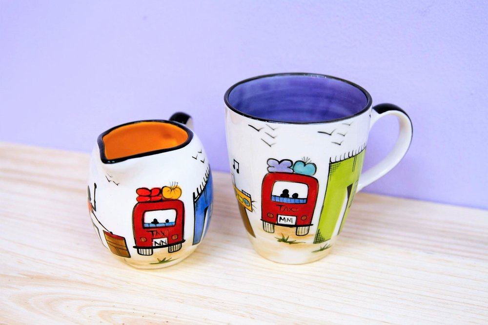 Africa Milk Jug & Mugs - R 180 to R 200 - Various designs available - please inquire.